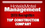 Hotel & Motel Management - 2009 Recognition - Top Construction Company